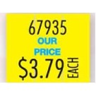 Monarch® 1115® Imprinted Yellow 2-Line Pricing Label