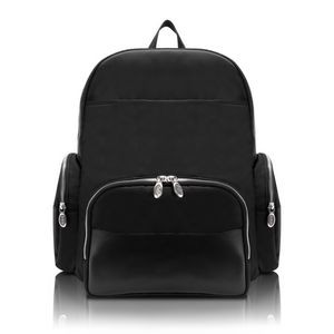 "McKlein® USA 17"" Black Cumberland Dual Compartment Laptop Backpack"