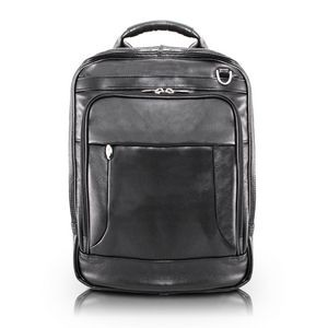 "15"" McKlein® USA Lincoln Park Leather Three-Way Computer Backpack Briefcase"